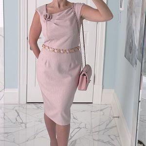 Professional pink pencil dress